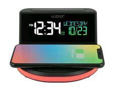 Wireless Charging Alarm Clock with Glowing Light La Crosse Technology 617-148