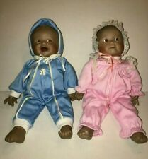 Yolando Bello Porcelain African American Baby Boy & Girl Doll Set Limited Ed.