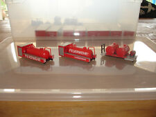 1:87 Feuerwehr: Abrollcontainer Konvolut  - Öl-Saug + Tank - Preiser / ok-Modell