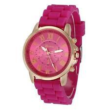 Geneva Women Silicone Analog Quartz Watches Casual Silicone Wrist Watch