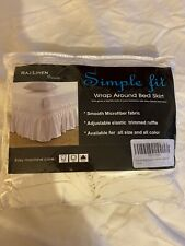 Simple Fit Wrap Around Bed Skirt Ivory Queen