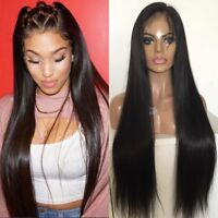 100% Virgin Brazilian Human Hair Lace Front Wig Women Wigs Black With Baby Hair