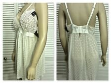 NWT Cinema Etoile 2pc Bridal Set Plus 2X Nude/Ivory Lace Bodice Dot Swiss Skirt