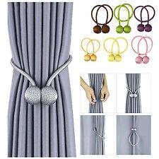 Window Curtain Magnetic Tie backs Strong Ball Buckle Rope Holdbacks Home Decor