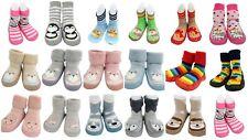 Bebé Niños Niño Niña de Moda Mocasines Antideslizante Pantuflas Socks Edad 0-6 1