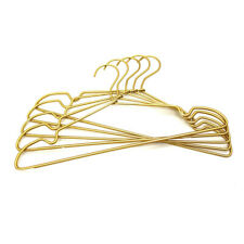 "30P 16.5"" Gold Aluminum Top Clothes Hangers Non-Slip Coat Storage Laundty Hanger"