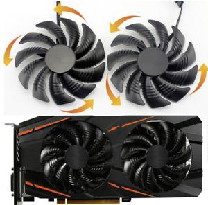 For Gigabyte RX570 RX580 GAMING GV-RX470 WF2 RX480 2pcs 88 MM GPU Fan T129215SU
