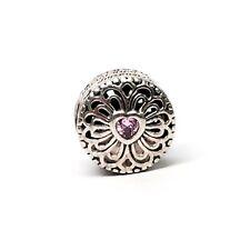 Authentic Pandora Sterling Silver Love & Friendship Pink CZ Bead 791955PCZ