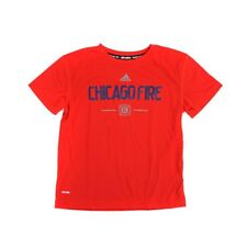 Chicago Fire Adidas MLS Boys Red Team & Logo Climalite T-Shirt
