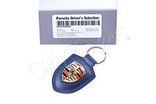 Genuine Porsche Accessories Crested Keyring Dark Blue Keytag WAP0500950E