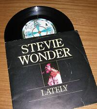 "STEVIE WONDER 7"" single LATELY (1980)"