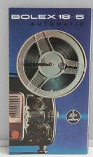 Bolex 18-5 Automatic Projector Sales Brochure Fold-Out - English - USED B100