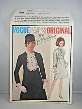 Yves Saint Laurent VOGUE PARIS ORIGINAL PATTERN 1790 Dress Size 12 YSL w Label