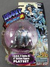 "Heavy Metal FAKK2 Julie B 4"" Action Figure Playset Kaiyodo Xebec Toys '99 NIP"