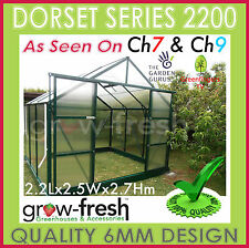 6mm ALUMINIUM POLYCARBONATE Garden GREENHOUSE Shade GREEN HOT HOUSE Shed 2.2G