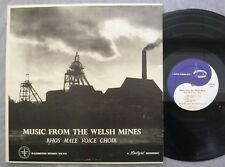 Rhos Male Voice Choir Music From The Welsh Mines LP Washington WR-416 1958 VG+/V