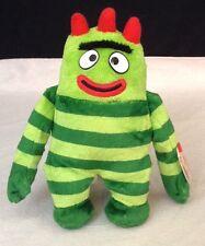 "YO GABBA GABBA Retired 2012 TY Beanie Baby 8"" Green Brobee Stuffed Toy PLUSH"