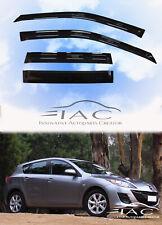 For Mazda 3 Hatchback 10-13 Window Visor Vent Sun Shade Rain Guard Door Visor