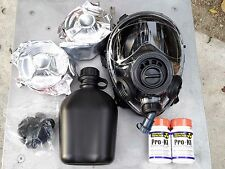 SGE 400/3 Infinity Gas Mask w/Drink Port & TWO Multi-Gas NBC Filters exp 12/2022