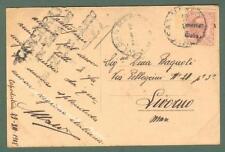 VENEZIA GIULIA - VARIETA'. Cart. 31.12.1918 spedita dalla regia Nave San Marco..