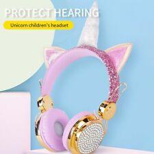 Auriculares con cable Unicornio con micrófono niños de música Bluetooth 5.0 Auriculares Estéreo ~