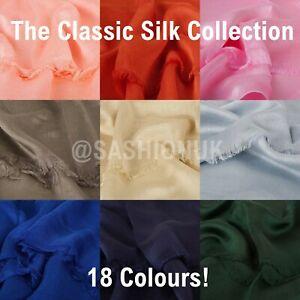Classic Silk Hijab Elegant Shawl High Quality Maxi Shawl Wrap Sarong Cape