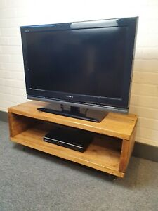 Industrial Retro Rustic TV Media Unit Cabinet Furniture Hairpin Legs