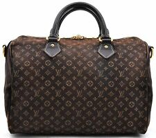 Auth Louis Vuitton Monogram Idylle Speedy Bandouliere 30 Brown M56702 LV A3458