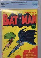 batman 1 reprint facsimily masterpiece edition cbcs.8.0