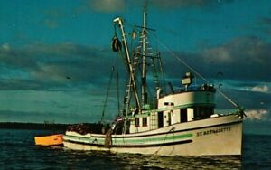 Vintage Postcard - Pacific Northwest Trawler Fishing Vessel Pudget Sound #8155