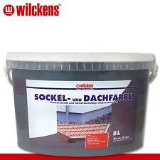 Wilckens 5 l Sockel- und Dachfarbe | Anthrazit | Sockelfarbe Dachziegel außen