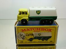 LESNEY MATCHBOX 25  BEDFORD BP B.P. TANKER - YELLOW - GOOD CONDITION IN BOX