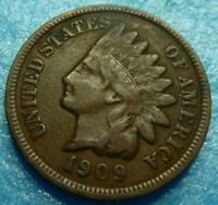 1909  Indian Head Penny Cent  Coin  #D09-1