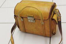 vintage 1970's tan hinomoto  camera bag
