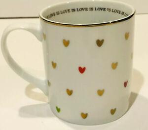 LOVE IS LOVE Coffee Mug 12Oz Human Rights Campaign Porcelain  WS PB WE