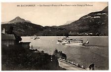 """CPA 74 - LAC D'ANNECY (Haute Savoie) - 396. Les Bateaux """"France et Mont-Blanc"""""""