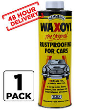 Clear 1 Litre Can Rust Proofing Under seal Underseal 1L Hammerite Waxoil 48 HOUR
