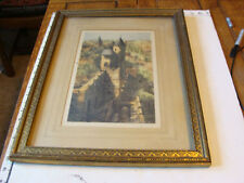 vintage pencil signed and framed CASTLE WALL print, very nice