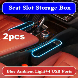 Upgraded Car Seat Gap Slit Pocket Storage Organizer Keys Phone Coins Holder Box