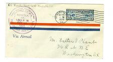 1926 CAM FLIGHT COVER 15N3a NORFOLK TO DC., PHILADELPHIA RAPID TRANSIT, PURPLE
