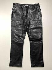 MOSCHINO CHEAP & CHIC Pantalone Donna Pelle Nero Woman Leather Pant Sz.M - 44