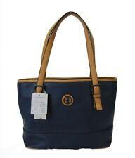 ** GIANI BERNINI Navy Blue Saffiano Leather Tote Bag Msrp $99.50