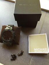 Womens Black Michael Kors Mk5360 Swarovski Crystals Ceramic Watch EUC with box!