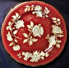 WEDGWOOD 'GOLD TONQUIN' RUBY DINNER PLATE,  23.3cm (9.15in) c.1965, PERFECT
