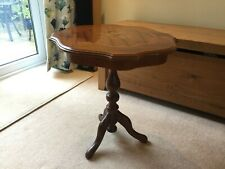 Octogan shaped wooden side table
