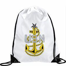 Large Drawstring Bag - US Department of the Navy, seal