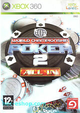 World Championship Poker 2: All In Microsoft Xbox 360 12+ Card Game