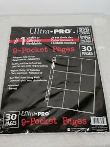 Ultra Pro 9-Pocket Card Pages 30 count Holds 270 Trading Cards New Sealed
