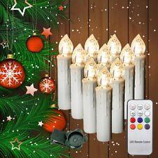 30x LED Weihnachtskerzen Kerzen Lichterkette Baumkerzen Weihnachtsbaum kabellos