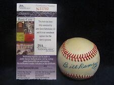 Bill Ramsey (D 2008) Autographed ONL (Feeney) Baseball - JSA Cert